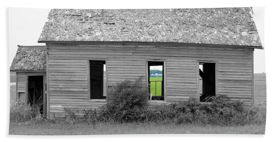 School Hand Towel featuring the photograph Window To The Future by Bonfire Photography