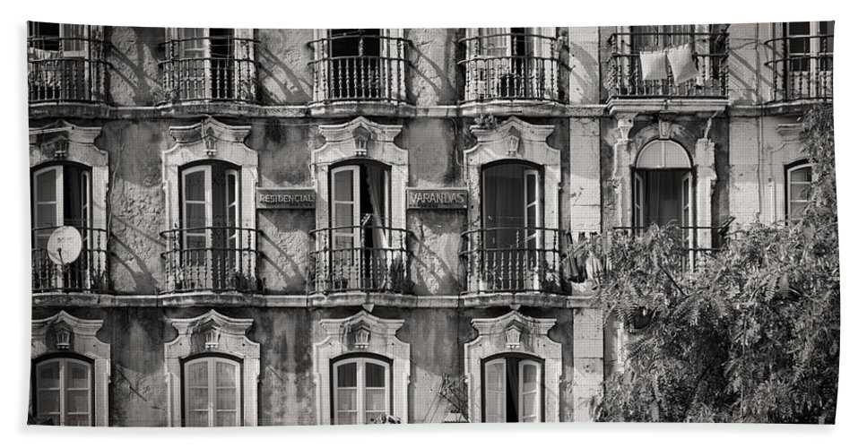 Building Facade Bath Sheet featuring the photograph Windows And Balconies 2 by Rod McLean