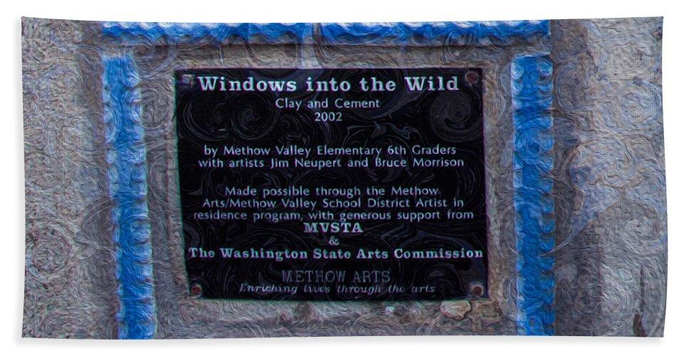 Georgia Okeefe Bath Sheet featuring the painting Windows Into The Wild by Omaste Witkowski