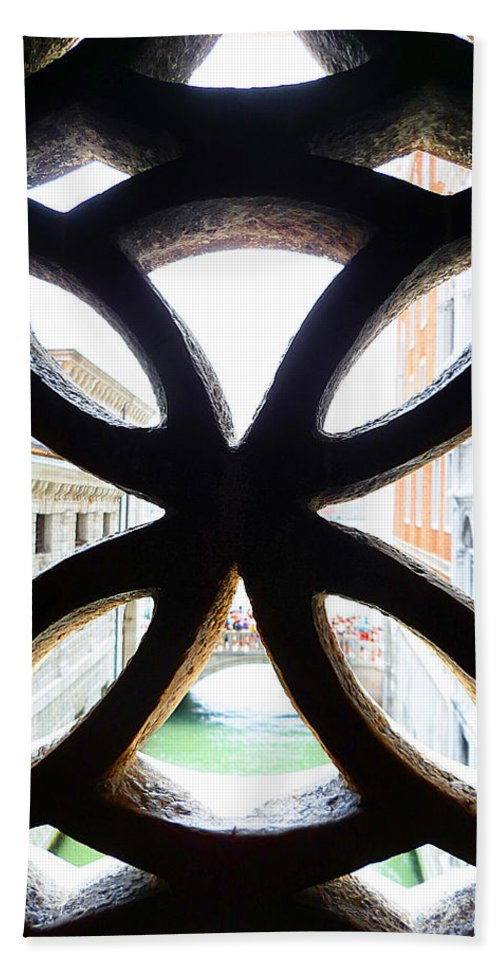 Window Hand Towel featuring the photograph Windows Of Venice View From Palazzo Ducale by Irina Sztukowski