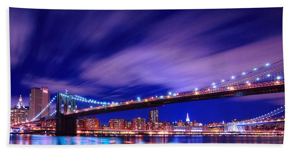 Dumbo Bath Sheet featuring the photograph Winds And Lights by Midori Chan