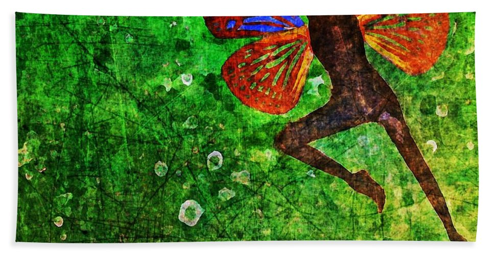 Women Bath Sheet featuring the digital art Wings 10 by Maria Huntley