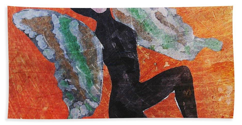 Women Bath Sheet featuring the digital art Wings 4 by Maria Huntley