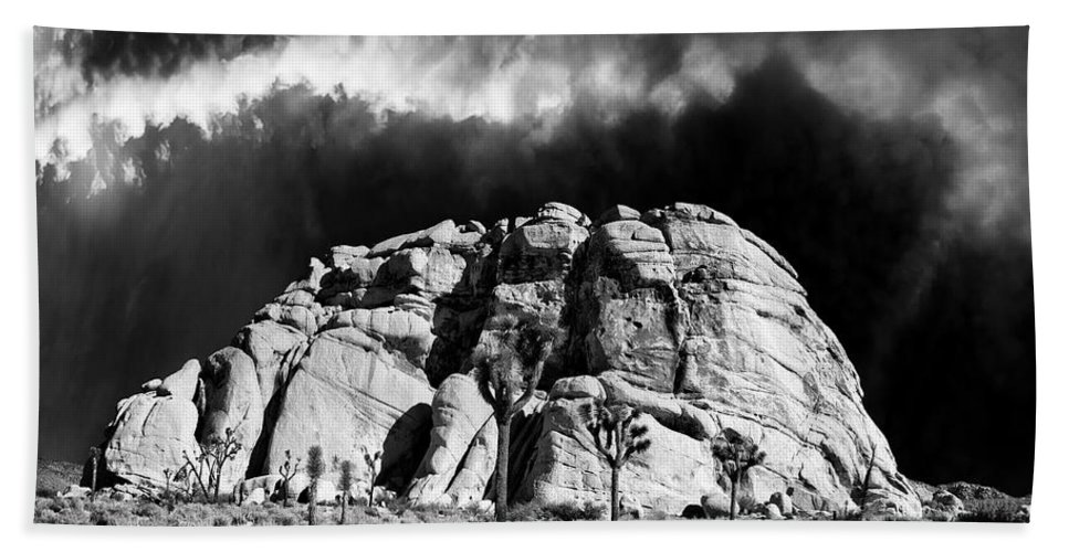 Winter Bath Sheet featuring the photograph Winter At Joshua Tree by Dominic Piperata