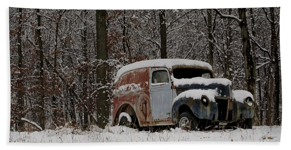 Car Bath Towel featuring the photograph Winter Classic by Trish Tritz