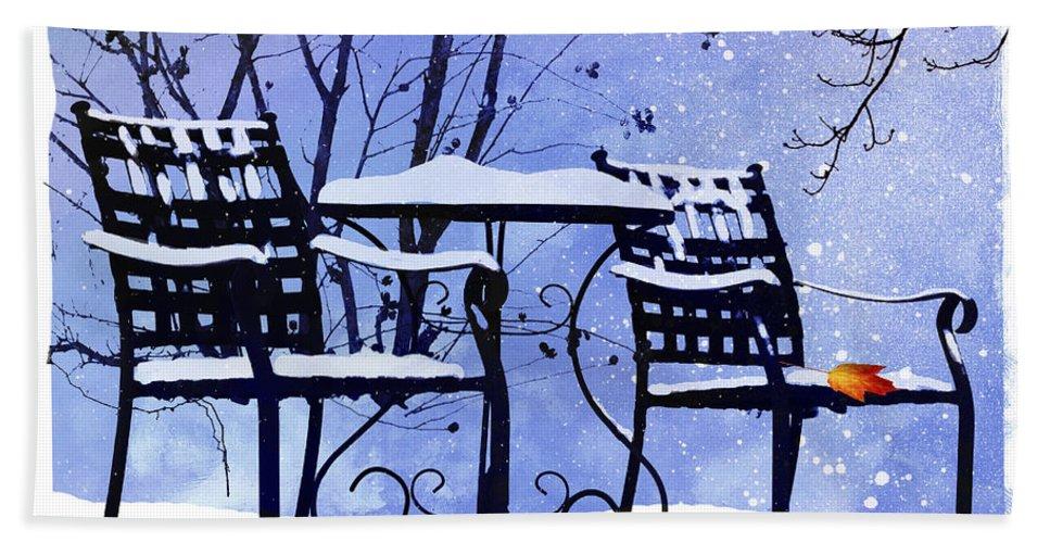 Ron Jones Hand Towel featuring the digital art Winter Days by Ron Jones