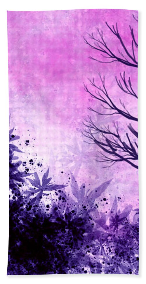 Trees Bath Sheet featuring the painting Winter Dreams by Persephone Artworks