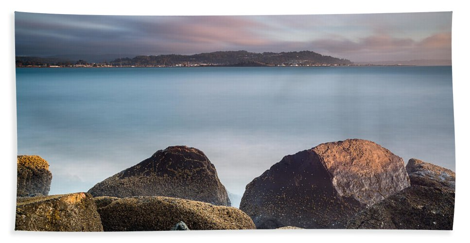 Humboldt Bay Hand Towel featuring the photograph Winter Evening On Humboldt Bay by Greg Nyquist