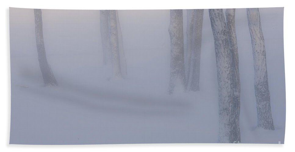 Hokkaido Hand Towel featuring the photograph Winter Fog by John Shaw
