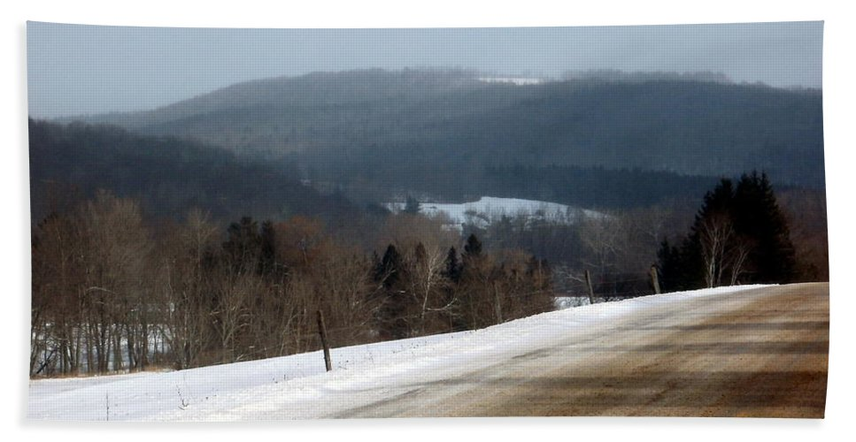 New York Bath Sheet featuring the photograph Winter Hillsides by Christian Mattison