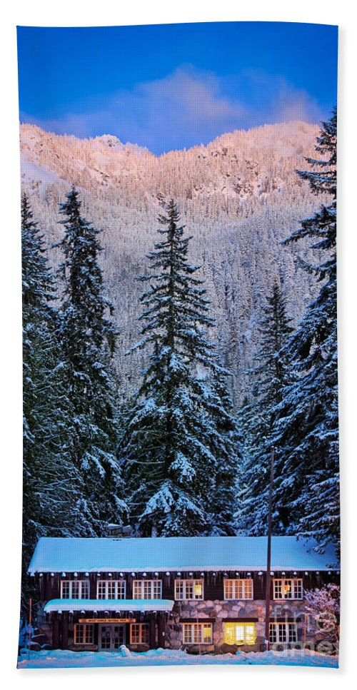 America Hand Towel featuring the photograph Winter Lodging by Inge Johnsson