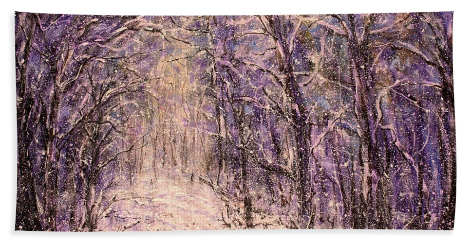 Winter Bath Sheet featuring the painting Winter Magic by Natalie Holland