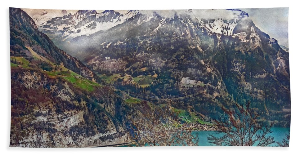Switzerland Hand Towel featuring the photograph Winter Meets Spring by Hanny Heim