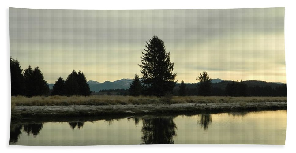 Nature Bath Towel featuring the photograph Winter River 6 by Gallery Of Hope