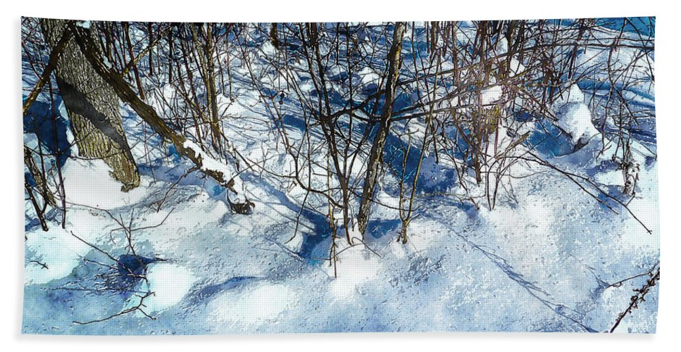 Winter Bath Sheet featuring the photograph Winter Shadows by Claire Bull
