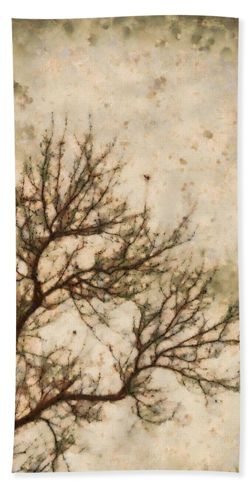 Winter Solitude Hand Towel featuring the painting Winter Solitude by Dan Sproul