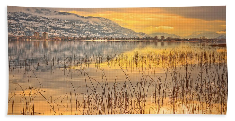 Okanagan Hand Towel featuring the photograph Winter Solstice 5 by Tara Turner