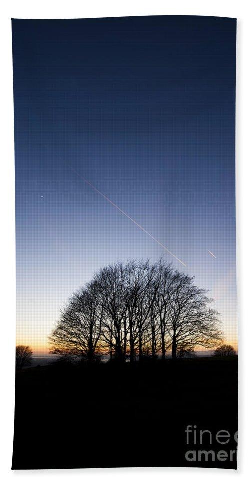 Anne Gilbert Hand Towel featuring the photograph Winter Sunset by Anne Gilbert