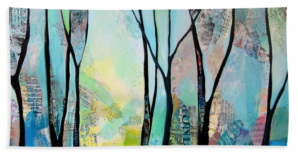 Winter Hand Towel featuring the painting Winter Wanderings I by Shadia Derbyshire