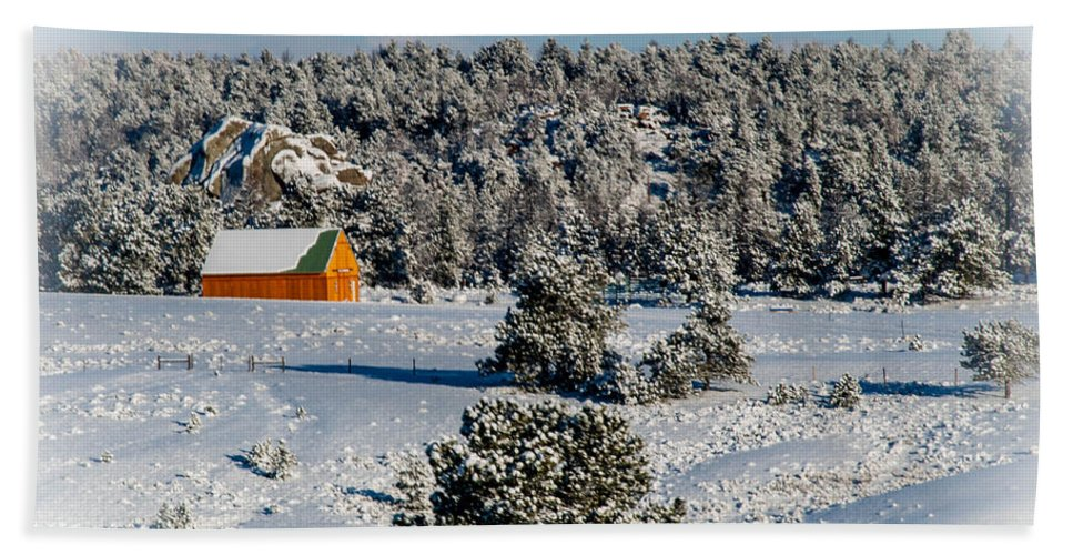 Snow Hand Towel featuring the photograph Winter Wonderland by Cathy Smith