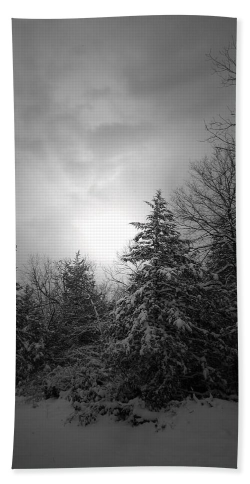 Winter Hand Towel featuring the photograph Winter's Eve by Linda Shannon Morgan