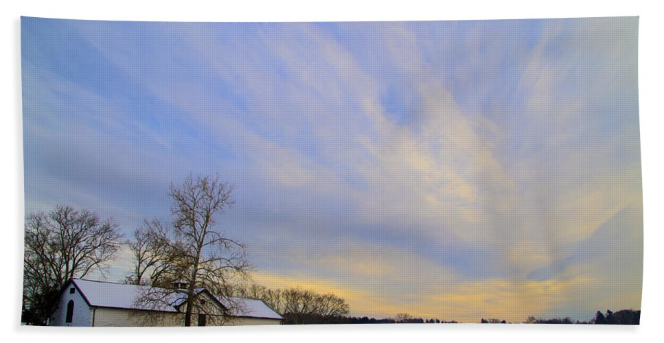 Wintertime Bath Sheet featuring the photograph Wintertime At Widener Farms by Bill Cannon