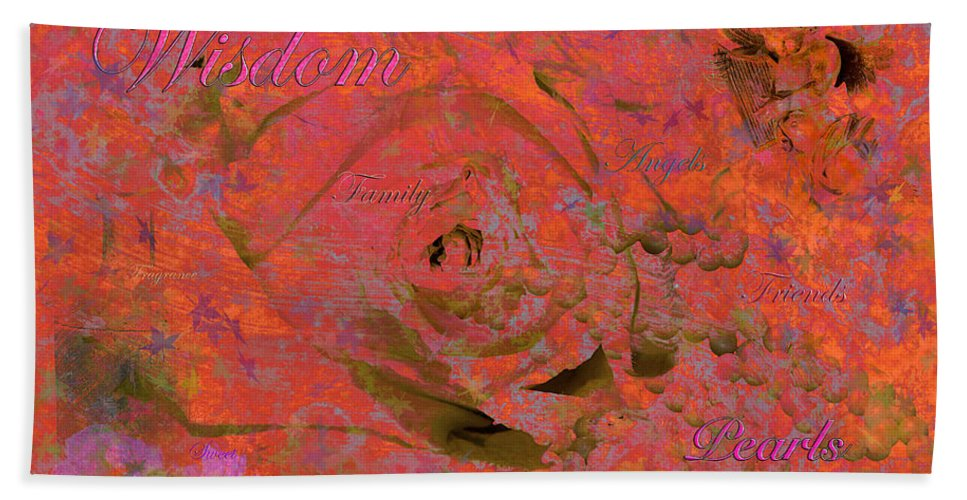 Digital Art Bath Sheet featuring the photograph Wisdom Pearls by Phyllis Denton