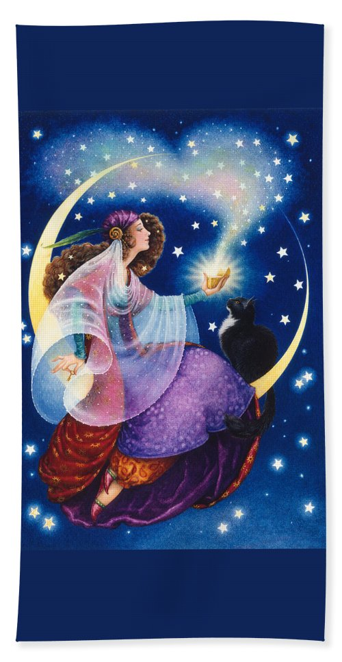 Gypsy Hand Towel featuring the painting Wishes by Lynn Bywaters