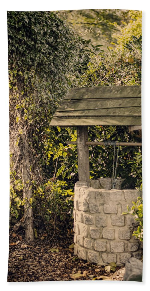 Wishing Well Bath Sheet featuring the photograph Wishing Well by Heather Applegate