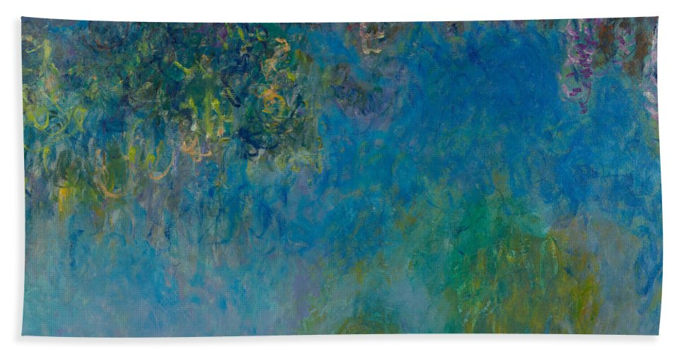 Wisteria Bath Sheet featuring the painting Wisteria by Georgia Fowler