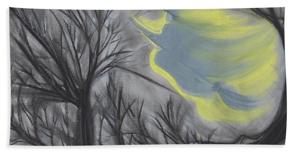 First Star Art Bath Sheet featuring the painting Witch Wood By Jrr by First Star Art