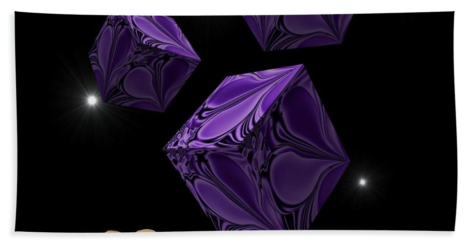Digital Art Bath Sheet featuring the digital art With The Lightest Touch by Barbara St Jean