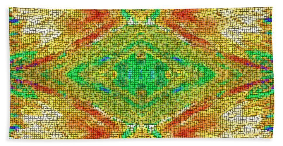Beatles Hand Towel featuring the digital art Within You Without You Mosaic by Alec Drake