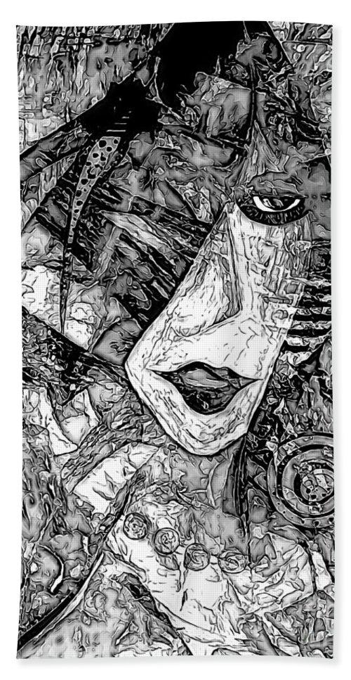 Graphics Hand Towel featuring the digital art Women 0537 - Marucii by Marek Lutek