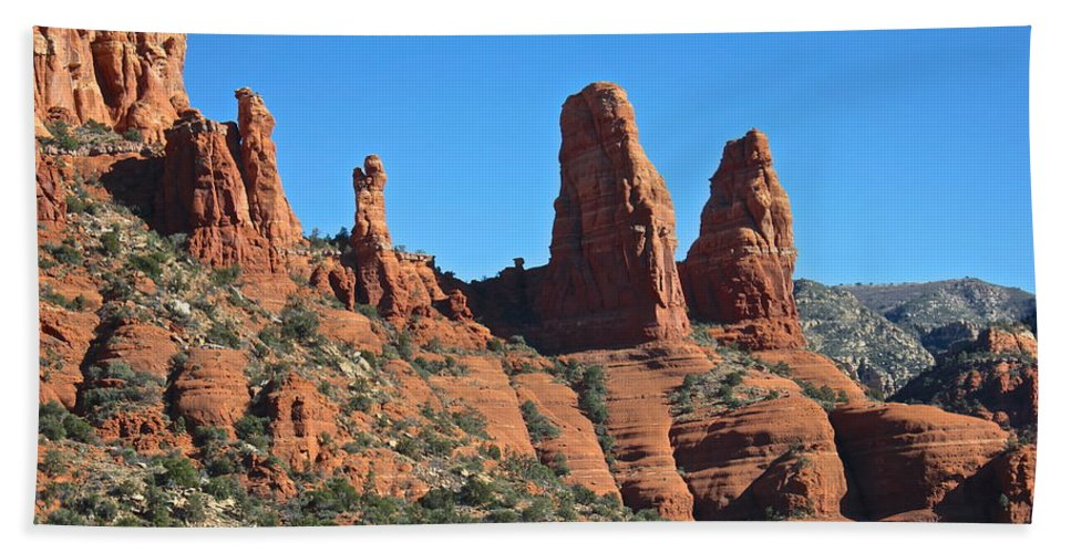 Sedona Hand Towel featuring the photograph Wonders Of Nature by Penny Meyers