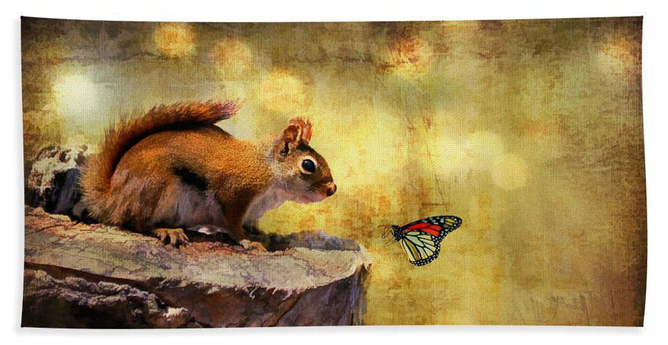 Wildlife Bath Sheet featuring the photograph Woodland Wonder by Lois Bryan