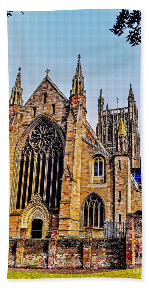Travel Hand Towel featuring the photograph Worcester Cathedral by Elvis Vaughn