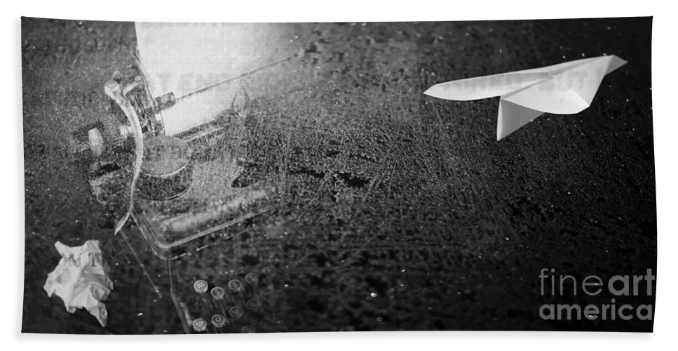 Words Hand Towel featuring the photograph Words Take Flight by Edward Fielding