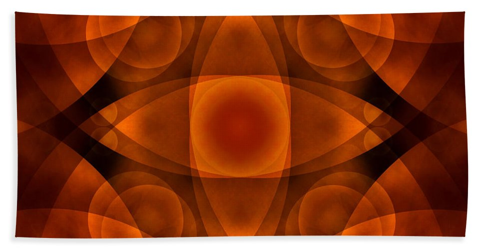 Abstract Bath Sheet featuring the photograph Worlds Collide 15 by Mike McGlothlen