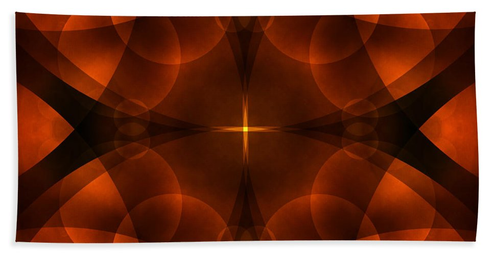 Abstract Bath Sheet featuring the photograph Worlds Collide 16 by Mike McGlothlen