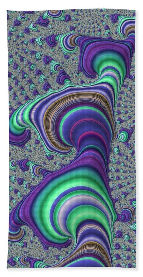 Fractal Bath Sheet featuring the digital art Wriggle Thru Time by Ron Bissett