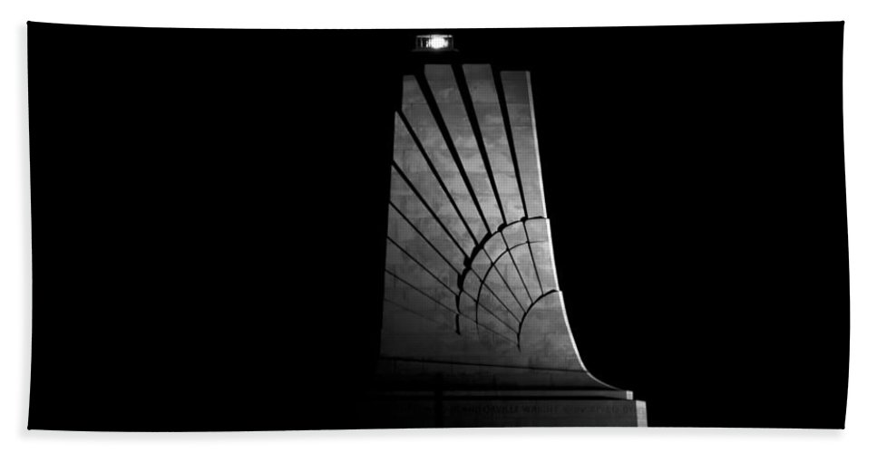 Wright Brothers National Memorial Hand Towel featuring the photograph Wright Brothers National Memorial by Greg Reed