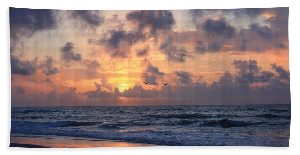 Wrightsville Beach Hand Towel featuring the photograph Wrightsville Beach Sunrise by Mountains to the Sea Photo