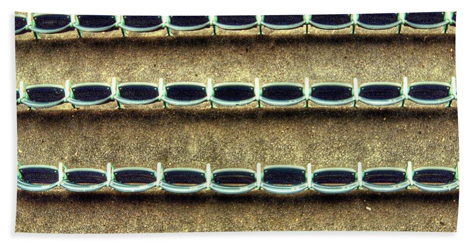 Wrigley Field Bath Sheet featuring the photograph Wrigley Field Grandstand Seats From Upper Deck by Roger Passman