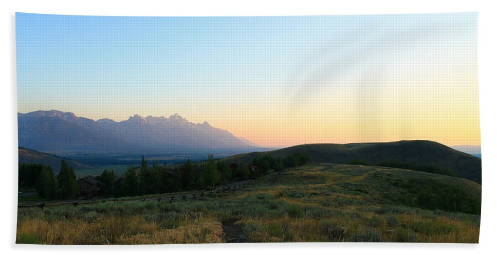 Jackson Hole Hand Towel featuring the photograph Wyoming Landscapes by Catie Canetti