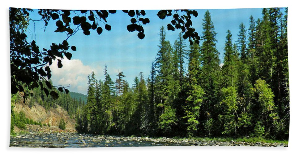 Landscape Hand Towel featuring the photograph Yaak River by Tonya P Smith