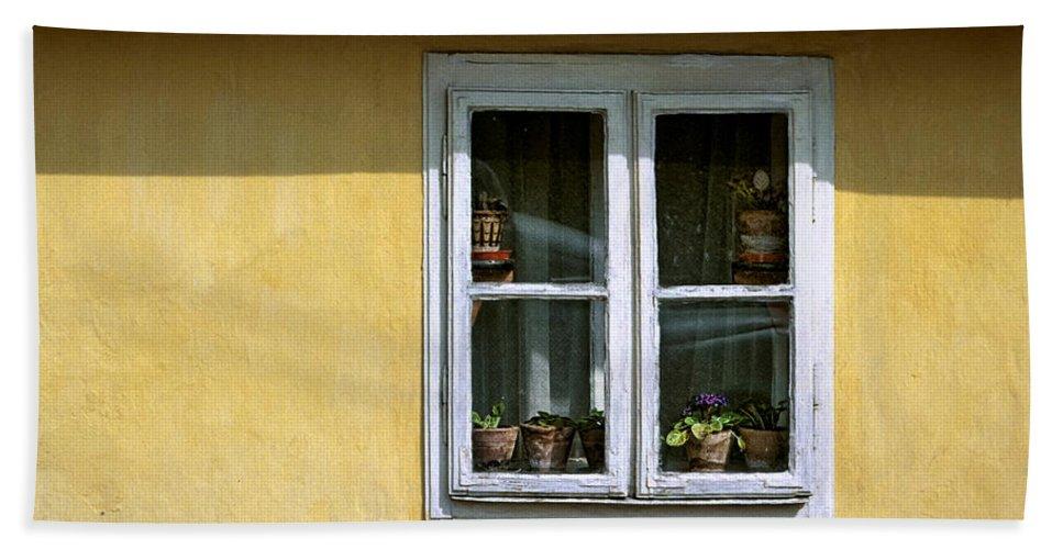 Serbia Belgrade Bath Sheet featuring the photograph Yellow And Pink Facade. Belgrade. Serbia by Juan Carlos Ferro Duque