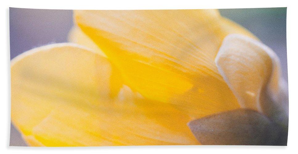 Outdoor Bath Sheet featuring the photograph yellow buttercup flower II by U Schade