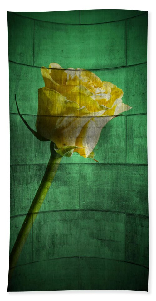 Abstract Bath Sheet featuring the photograph Yellow Rose by Nathan Wright