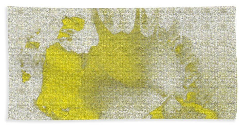 Yellow Hand Towel featuring the digital art Yellow Shell by Carol Lynch